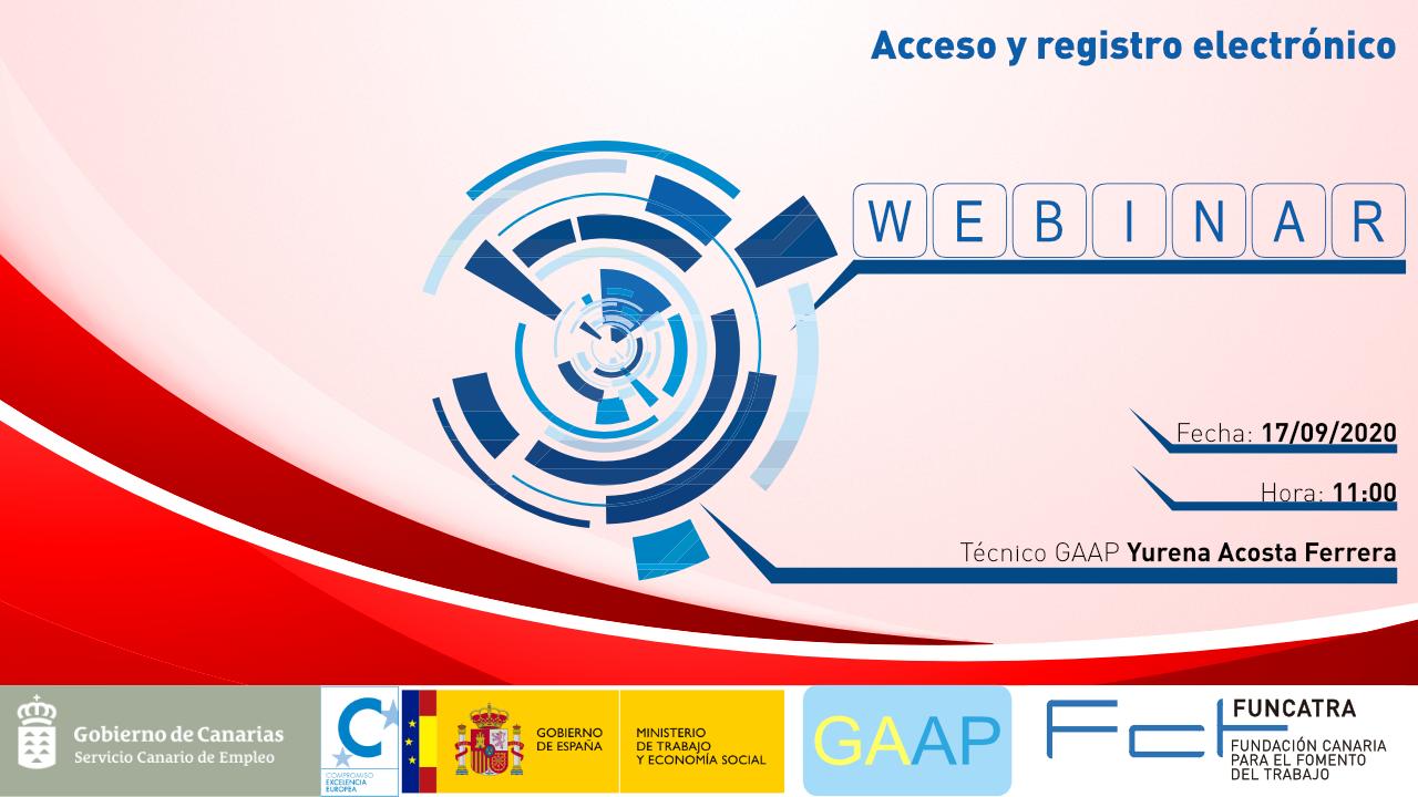 WEBINAR GAAP acceso y registro electronico